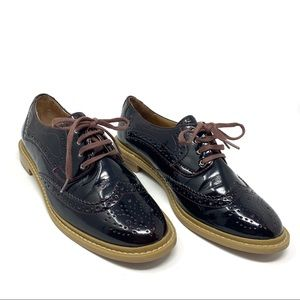 14th & Union Dark Merlot Oxford Wingtip Loafers